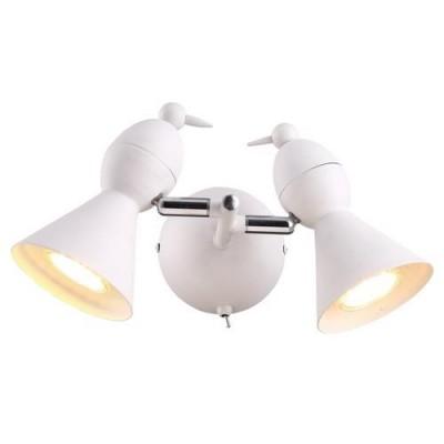 A9229AP-2WH Arte lamp СветильникДвойные<br><br><br>S освещ. до, м2: 5<br>Тип цоколя: GU10<br>Цвет арматуры: БЕЛЫЙ<br>Количество ламп: 2<br>Диаметр, мм мм: 200<br>Размеры: L27*W20*H15<br>Длина, мм: 300<br>Высота, мм: 150<br>MAX мощность ламп, Вт: 50W<br>Общая мощность, Вт: 50W