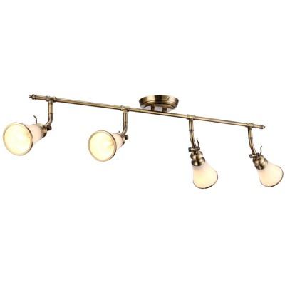 Светильник потолочный Arte lamp A9231PL-4AB VENTOС 4 лампами<br>Светильники-споты – это оригинальные изделия с современным дизайном. Они позволяют не ограничивать свою фантазию при выборе освещения для интерьера. Такие модели обеспечивают достаточно качественный свет. Благодаря компактным размерам Вы можете использовать несколько спотов для одного помещения.  Интернет-магазин «Светодом» предлагает необычный светильник-спот ARTE Lamp A9231PL-4AB по привлекательной цене. Эта модель станет отличным дополнением к люстре, выполненной в том же стиле. Перед оформлением заказа изучите характеристики изделия.  Купить светильник-спот ARTE Lamp A9231PL-4AB в нашем онлайн-магазине Вы можете либо с помощью формы на сайте, либо по указанным выше телефонам. Обратите внимание, что у нас склады не только в Москве и Екатеринбурге, но и других городах России.<br><br>Тип цоколя: E14<br>Цвет арматуры: античный бронзовый<br>Количество ламп: 4<br>Размеры: H25xW34xL95<br>MAX мощность ламп, Вт: 40