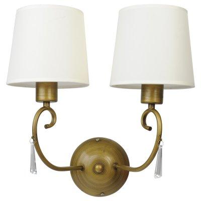 Светильник настенный Arte lamp A9239AP-2BR Carolinaклассические бра<br>Настенный светильник Arte lamp A9239АР-2ВR Carolina с двумя плафонами создает освещение пространства площадью до пяти кв.м., поэтому наверняка станет любимой вещью в «зоне отдыха», где Вы проводите время, сидя в удобном кресле с любимой книгой в руке и чашечкой чая на столике. Действительно, его изящная конструкция в сочетании с приятным сочетанием белого и бронзового оттенка располагают к отдыху и расслаблению после напряженного рабочего дня. Рекомендуем Вам использовать бра в комплекте из нескольких экземпляров и люстрой из этой же серии, тогда интерьер будет выглядеть «законченным» и совершенным, как будто над ним поработал профессиональный дизайнер.<br><br>S освещ. до, м2: 6<br>Тип лампы: накаливания / энергосбережения / LED-светодиодная<br>Тип цоколя: E27<br>Цвет арматуры: бронзовый<br>Количество ламп: 2<br>Ширина, мм: 400<br>Диаметр, мм мм: 200<br>Расстояние от стены, мм: 200<br>Высота, мм: 370<br>MAX мощность ламп, Вт: 40
