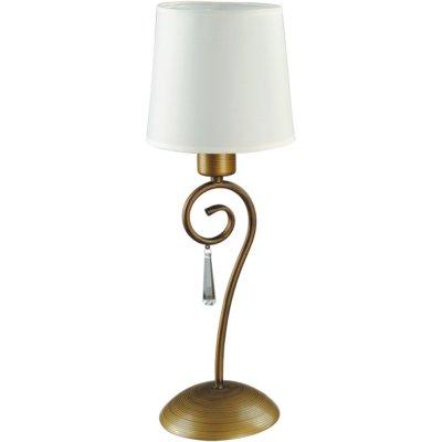 Настольная лампа Arte lamp A9239LT-1BR CarolinaС абажуром<br>Настольный светильник Arte lamp A9239LT-1BR Carolina станет украшением Вашего рабочего стола или журнального столика! Выполненный в классическом стиле, он великолепно сочетает в себе светлые белые и бронзовые оттенки и изящную конструкцию с трапециевидным плафоном. Эта лампа всегда будет являться источником твореского вдохновения и отличного настроения, а используя ее вместе с остальными светильниками из этой же серии, Вы создадите в комнате уникальный, ситльный и запоминающийся интерьер, о котором все Ваши гости будут часто с восхищением вспоминать!<br><br>S освещ. до, м2: 3<br>Тип лампы: накал-я - энергосбер-я<br>Тип цоколя: E27<br>Количество ламп: 1<br>Ширина, мм: 160<br>MAX мощность ламп, Вт: 40<br>Диаметр, мм мм: 200<br>Высота, мм: 370<br>Цвет арматуры: бронзовый