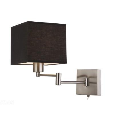 Настенный бра Arte lamp A9247AP-1SS CubesХай-тек<br><br><br>S освещ. до, м2: 3<br>Тип лампы: накал-я - энергосбер-я<br>Тип цоколя: E27<br>Количество ламп: 1<br>Ширина, мм: 260<br>Диаметр, мм мм: 430<br>Высота, мм: 180<br>MAX мощность ламп, Вт: 40