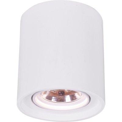 Точечный светильник Arte lamp A9262PL-1WH TuboДаунлайты<br><br><br>S освещ. до, м2: 4<br>Тип лампы: Галогеновые<br>Тип цоколя: G53<br>Количество ламп: 1<br>MAX мощность ламп, Вт: 50<br>Диаметр, мм мм: 200<br>Высота, мм: 225<br>Цвет арматуры: Белый