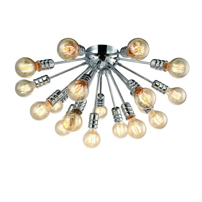 A9265PL-18CC Arte lamp СветильникПотолочные<br><br><br>S освещ. до, м2: 54<br>Тип лампы: Накаливания / энергосбережения / светодиодная<br>Тип цоколя: E27<br>Количество ламп: 18<br>MAX мощность ламп, Вт: 60W<br>Диаметр, мм мм: 600<br>Размеры: ?76*H39<br>Длина, мм: 600<br>Высота, мм: 330<br>Цвет арматуры: Серебристый хром<br>Общая мощность, Вт: 60W