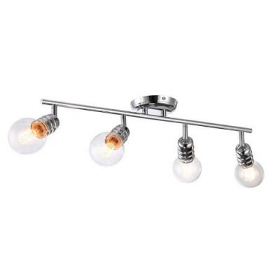A9265PL-4CC Arte lamp СветильникС 4 лампами<br><br><br>S освещ. до, м2: 8<br>Тип цоколя: E27<br>Цвет арматуры: Серебристый хром<br>Количество ламп: 4<br>Диаметр, мм мм: 120<br>Размеры: L73*W20*H22<br>Длина, мм: 650<br>Высота, мм: 160<br>MAX мощность ламп, Вт: 60W<br>Общая мощность, Вт: 60W