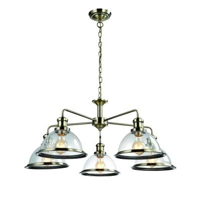 A9273LM-5AB Arte lamp СветильникПодвесные<br><br><br>Установка на натяжной потолок: Да<br>S освещ. до, м2: 15<br>Крепление: Планка<br>Тип лампы: Накаливания / энергосбережения / светодиодная<br>Тип цоколя: E27<br>Цвет арматуры: античный бронзовый<br>Количество ламп: 5<br>Диаметр, мм мм: 800<br>Длина цепи/провода, мм: 450<br>Размеры: ?80*H81<br>Длина, мм: 800<br>Высота, мм: 350<br>MAX мощность ламп, Вт: 60W<br>Общая мощность, Вт: 60W