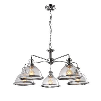 A9273LM-5CC Arte lamp СветильникПодвесные<br><br><br>Установка на натяжной потолок: Да<br>S освещ. до, м2: 15<br>Крепление: Планка<br>Тип цоколя: E27<br>Количество ламп: 5<br>MAX мощность ламп, Вт: 60W<br>Диаметр, мм мм: 800<br>Длина цепи/провода, мм: 450<br>Размеры: ?80*H81<br>Длина, мм: 800<br>Высота, мм: 350<br>Цвет арматуры: Серебристый хром<br>Общая мощность, Вт: 60W