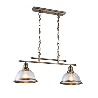 Светильник подвесной Arte lamp A9273SP-2AB Oglioподвесные светильники на 2 лампы<br><br><br>Крепление: Планка<br>Тип цоколя: E27<br>Цвет арматуры: античный бронзовый<br>Количество ламп: 2<br>Ширина, мм: 230<br>Диаметр, мм мм: 230<br>Длина цепи/провода, мм: 450<br>Размеры: L70*W23*H76<br>Длина, мм: 700<br>Высота, мм: 300<br>MAX мощность ламп, Вт: 60W<br>Общая мощность, Вт: 60W