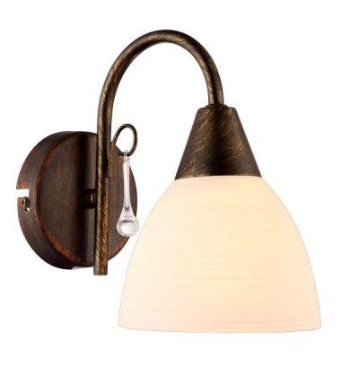 Светильник настенный бра Arte lamp A9312AP-1BR SEGRETOРустика<br><br><br>Установка на натяжной потолок: Ограничено<br>S освещ. до, м2: 1<br>Крепление: Планка<br>Тип цоколя: E14<br>Цвет арматуры: коричневый<br>Количество ламп: 1<br>Размеры: H19xW12xL19<br>MAX мощность ламп, Вт: 40