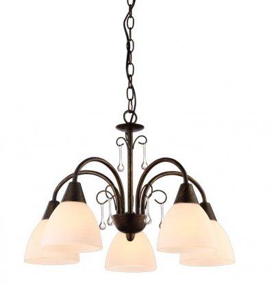 Светильник подвесной Arte lamp A9312LM-5BR SEGRETOПодвесные<br>Компания «Светодом» предлагает широкий ассортимент люстр от известных производителей. Представленные в нашем каталоге товары выполнены из современных материалов и обладают отличным качеством. Благодаря широкому ассортименту Вы сможете найти у нас люстру под любой интерьер. Мы предлагаем как классические варианты, так и современные модели, отличающиеся лаконичностью и простотой форм.  Стильная люстра Arte lamp A9312LM-5BR станет украшением любого дома. Эта модель от известного производителя не оставит равнодушным ценителей красивых и оригинальных предметов интерьера. Люстра Arte lamp A9312LM-5BR обеспечит равномерное распределение света по всей комнате. При выборе обратите внимание на характеристики, позволяющие приобрести наиболее подходящую модель. Купить понравившуюся люстру по доступной цене Вы можете в интернет-магазине «Светодом».<br><br>Установка на натяжной потолок: Да<br>S освещ. до, м2: 10<br>Крепление: Крюк<br>Тип лампы: Накаливания / энергосбережения / светодиодная<br>Тип цоколя: E14<br>Количество ламп: 5<br>MAX мощность ламп, Вт: 40<br>Размеры: H33xW46xL46+шн/цп50<br>Цвет арматуры: коричневый