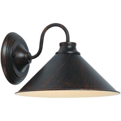 Светильник бра Arte lamp A9330AP-1BR ConeМорской стиль<br><br><br>S освещ. до, м2: 4<br>Тип лампы: накаливания / энергосбережения / LED-светодиодная<br>Тип цоколя: E27<br>Количество ламп: 1<br>Ширина, мм: 300<br>MAX мощность ламп, Вт: 60<br>Диаметр, мм мм: 260<br>Расстояние от стены, мм: 300<br>Высота, мм: 200<br>Цвет арматуры: коричневый