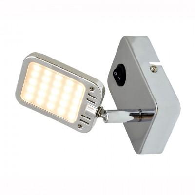 Светильник настенный бра Arte lamp A9412AP-1CC RAMPAодиночные споты<br>Светильники-споты – это оригинальные изделия с современным дизайном. Они позволяют не ограничивать свою фантазию при выборе освещения для интерьера. Такие модели обеспечивают достаточно качественный свет. Благодаря компактным размерам Вы можете использовать несколько спотов для одного помещения.  Интернет-магазин «Светодом» предлагает необычный светильник-спот ARTE Lamp A9412AP-1CC по привлекательной цене. Эта модель станет отличным дополнением к люстре, выполненной в том же стиле. Перед оформлением заказа изучите характеристики изделия.  Купить светильник-спот ARTE Lamp A9412AP-1CC в нашем онлайн-магазине Вы можете либо с помощью формы на сайте, либо по указанным выше телефонам. Обратите внимание, что у нас склады не только в Москве и Екатеринбурге, но и других городах России.<br><br>S освещ. до, м2: 1<br>Тип лампы: LED<br>Тип цоколя: LED<br>Цвет арматуры: серебристый<br>Количество ламп: 1<br>Размеры: H11xW7xL11<br>MAX мощность ламп, Вт: 2