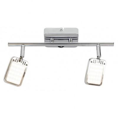 Светильник настенный бра Arte lamp A9412AP-2CC RAMPAДвойные<br>Светильники-споты – это оригинальные изделия с современным дизайном. Они позволяют не ограничивать свою фантазию при выборе освещения для интерьера. Такие модели обеспечивают достаточно качественный свет. Благодаря компактным размерам Вы можете использовать несколько спотов для одного помещения.  Интернет-магазин «Светодом» предлагает необычный светильник-спот ARTE Lamp A9412AP-2CC по привлекательной цене. Эта модель станет отличным дополнением к люстре, выполненной в том же стиле. Перед оформлением заказа изучите характеристики изделия.  Купить светильник-спот ARTE Lamp A9412AP-2CC в нашем онлайн-магазине Вы можете либо с помощью формы на сайте, либо по указанным выше телефонам. Обратите внимание, что у нас склады не только в Москве и Екатеринбурге, но и других городах России.<br><br>S освещ. до, м2: 2<br>Тип лампы: LED<br>Тип цоколя: LED<br>Цвет арматуры: серебристый<br>Количество ламп: 2<br>Размеры: H7xW18xL34<br>MAX мощность ламп, Вт: 2