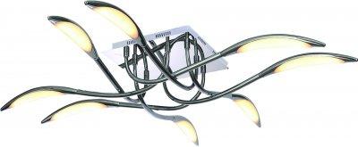 Светильник Arte lamp A9442PL-8CC MATTINOПод заказ<br>Компания «Светодом» предлагает широкий ассортимент люстр от известных производителей. Представленные в нашем каталоге товары выполнены из современных материалов и обладают отличным качеством. Благодаря широкому ассортименту Вы сможете найти у нас люстру под любой интерьер. Мы предлагаем как классические варианты, так и современные модели, отличающиеся лаконичностью и простотой форм.  Стильная люстра Arte lamp A9442PL-8CC станет украшением любого дома. Эта модель от известного производителя не оставит равнодушным ценителей красивых и оригинальных предметов интерьера. Люстра Arte lamp A9442PL-8CC обеспечит равномерное распределение света по всей комнате. При выборе обратите внимание на характеристики, позволяющие приобрести наиболее подходящую модель. Купить понравившуюся люстру по доступной цене Вы можете в интернет-магазине «Светодом». Мы предлагаем доставку не только по Москве и Екатеринбурге, но и по всей России.<br><br>Установка на натяжной потолок: Да<br>S освещ. до, м2: 18<br>Крепление: Планка<br>Тип лампы: Накаливания / энергосбережения / светодиодная<br>Тип цоколя: LED<br>Количество ламп: 8<br>MAX мощность ламп, Вт: 46<br>Размеры: H15xW80xL79<br>Цвет арматуры: серебристый