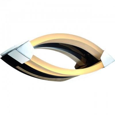 Светильник настенный бра Arte lamp A9443AP-2CC SERATAХай-тек<br><br><br>Тип лампы: LED<br>Тип цоколя: LED<br>Цвет арматуры: серебристый<br>Количество ламп: 10<br>Размеры: H9xW12xL32<br>MAX мощность ламп, Вт: 5