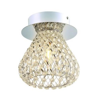 A9466PL-1CC Arte lamp СветильникПотолочные<br><br><br>Тип цоколя: E14<br>Количество ламп: 1<br>MAX мощность ламп, Вт: 40W<br>Диаметр, мм мм: 140<br>Размеры: ?14*H16<br>Длина, мм: 140<br>Высота, мм: 160<br>Цвет арматуры: Серебристый хром<br>Общая мощность, Вт: 40W