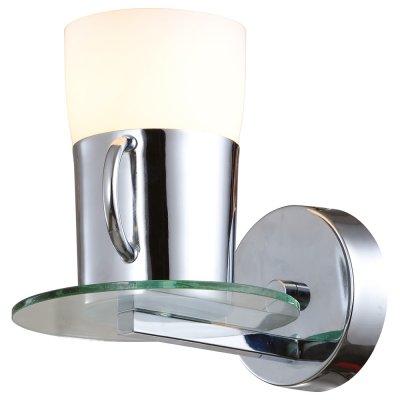Настенный бра Arte lamp A9484AP-1CC Brooklynсовременные бра модерн<br><br><br>S освещ. до, м2: 3<br>Тип лампы: накаливания / энергосбережения / LED-светодиодная<br>Тип цоколя: E27<br>Количество ламп: 1<br>Ширина, мм: 150<br>Диаметр, мм мм: 210<br>Высота, мм: 180<br>MAX мощность ламп, Вт: 40