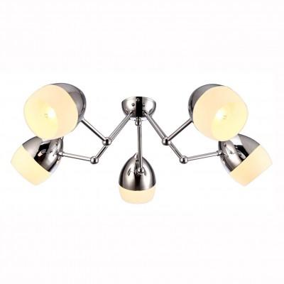 Светильник потолочный Arte lamp A9484PL-5CC BANCONEлюстры хай тек потолочные<br>Компания «Светодом» предлагает широкий ассортимент люстр от известных производителей. Представленные в нашем каталоге товары выполнены из современных материалов и обладают отличным качеством. Благодаря широкому ассортименту Вы сможете найти у нас люстру под любой интерьер. Мы предлагаем как классические варианты, так и современные модели, отличающиеся лаконичностью и простотой форм.  Стильная люстра Arte lamp A9484PL-5CC станет украшением любого дома. Эта модель от известного производителя не оставит равнодушным ценителей красивых и оригинальных предметов интерьера. Люстра Arte lamp A9484PL-5CC обеспечит равномерное распределение света по всей комнате. При выборе обратите внимание на характеристики, позволяющие приобрести наиболее подходящую модель. Купить понравившуюся люстру по доступной цене Вы можете в интернет-магазине «Светодом».<br><br>Установка на натяжной потолок: Ограничено<br>S освещ. до, м2: 10<br>Крепление: Планка<br>Тип цоколя: E27<br>Цвет арматуры: серебристый<br>Количество ламп: 5<br>Диаметр, мм мм: 640<br>Размеры: H15xW64xL64<br>Высота, мм: 150<br>MAX мощность ламп, Вт: 40