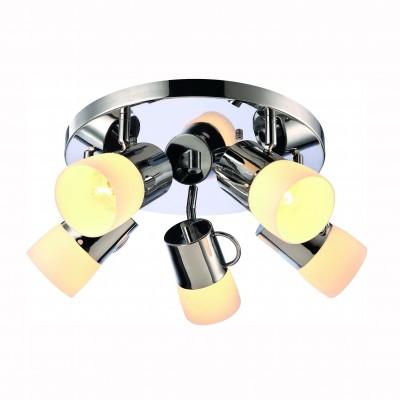 Светильник потолочный Arte lamp A9485PL-5CC BANCONEПоворотные<br>Компания «Светодом» предлагает широкий ассортимент люстр от известных производителей. Представленные в нашем каталоге товары выполнены из современных материалов и обладают отличным качеством. Благодаря широкому ассортименту Вы сможете найти у нас люстру под любой интерьер. Мы предлагаем как классические варианты, так и современные модели, отличающиеся лаконичностью и простотой форм.  Стильная люстра Arte lamp A9485PL-5CC станет украшением любого дома. Эта модель от известного производителя не оставит равнодушным ценителей красивых и оригинальных предметов интерьера. Люстра Arte lamp A9485PL-5CC обеспечит равномерное распределение света по всей комнате. При выборе обратите внимание на характеристики, позволяющие приобрести наиболее подходящую модель. Купить понравившуюся люстру по доступной цене Вы можете в интернет-магазине «Светодом».<br><br>Установка на натяжной потолок: Да<br>S освещ. до, м2: 10<br>Крепление: Планка<br>Тип цоколя: E27<br>Цвет арматуры: серебристый<br>Количество ламп: 5<br>Диаметр, мм мм: 580<br>Размеры: H22xW58xL58<br>Высота, мм: 220<br>MAX мощность ламп, Вт: 40