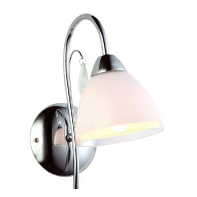 Настенный бра Arte lamp A9488AP-1CC Capriceклассические бра<br><br><br>S освещ. до, м2: 3<br>Тип лампы: накаливания / энергосбережения / LED-светодиодная<br>Тип цоколя: E14<br>Количество ламп: 1<br>Ширина, мм: 120<br>Диаметр, мм мм: 210<br>Высота, мм: 250<br>MAX мощность ламп, Вт: 40