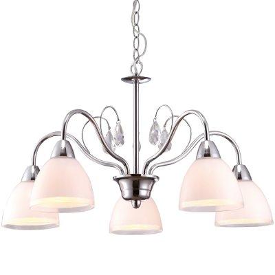 Подвесная люстра Arte lamp A9488LM-5CC CapriceПодвесные<br>Компания «Светодом» предлагает широкий ассортимент люстр от известных производителей. Представленные в нашем каталоге товары выполнены из современных материалов и обладают отличным качеством. Благодаря широкому ассортименту Вы сможете найти у нас люстру под любой интерьер. Мы предлагаем как классические варианты, так и современные модели, отличающиеся лаконичностью и простотой форм.  Стильная люстра Arte lamp A9488LM-5CC станет украшением любого дома. Эта модель от известного производителя не оставит равнодушным ценителей красивых и оригинальных предметов интерьера. Люстра Arte lamp A9488LM-5CC обеспечит равномерное распределение света по всей комнате. При выборе обратите внимание на характеристики, позволяющие приобрести наиболее подходящую модель. Купить понравившуюся люстру по доступной цене Вы можете в интернет-магазине «Светодом».<br><br>Установка на натяжной потолок: Да<br>S освещ. до, м2: 10<br>Крепление: Крюк<br>Тип лампы: накаливания / энергосбережения / LED-светодиодная<br>Тип цоколя: E14<br>Количество ламп: 5<br>MAX мощность ламп, Вт: 40<br>Диаметр, мм мм: 560<br>Длина цепи/провода, мм: 560<br>Высота, мм: 340<br>Оттенок (цвет): белый<br>Цвет арматуры: серый