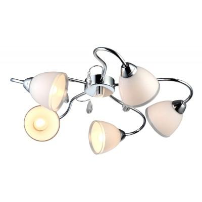 Люстра Arte lamp A9488PL-5CC Capriceсовременные потолочные люстры модерн<br>Компания «Светодом» предлагает широкий ассортимент люстр от известных производителей. Представленные в нашем каталоге товары выполнены из современных материалов и обладают отличным качеством. Благодаря широкому ассортименту Вы сможете найти у нас люстру под любой интерьер. Мы предлагаем как классические варианты, так и современные модели, отличающиеся лаконичностью и простотой форм. <br>Стильная люстра Arte lamp A9488PL-5CC станет украшением любого дома. Эта модель от известного производителя не оставит равнодушным ценителей красивых и оригинальных предметов интерьера. Люстра Arte lamp A9488PL-5CC обеспечит равномерное распределение света по всей комнате. При выборе обратите внимание на характеристики, позволяющие приобрести наиболее подходящую модель. <br>Купить понравившуюся люстру по доступной цене Вы можете в интернет-магазине «Светодом».<br><br>Установка на натяжной потолок: Ограничено<br>S освещ. до, м2: 14<br>Крепление: Планка<br>Тип лампы: накаливания / энергосбережения / LED-светодиодная<br>Тип цоколя: E14<br>Цвет арматуры: серебристый хром<br>Количество ламп: 5<br>Ширина, мм: 580<br>Диаметр, мм мм: 580<br>Высота, мм: 170<br>MAX мощность ламп, Вт: 40