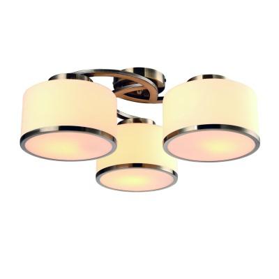 A9495PL-3AB Arte lamp СветильникПотолочные<br><br><br>Установка на натяжной потолок: Да<br>S освещ. до, м2: 6<br>Тип лампы: Накаливания / энергосбережения / светодиодная<br>Тип цоколя: E27<br>Цвет арматуры: античный бронзовый<br>Количество ламп: 3<br>Диаметр, мм мм: 550<br>Размеры: ?54*H21<br>Длина, мм: 550<br>Высота, мм: 200<br>MAX мощность ламп, Вт: 40W<br>Общая мощность, Вт: 40W