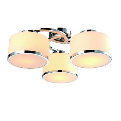 A9495PL-3CC Arte lamp СветильникПотолочные<br><br><br>Установка на натяжной потолок: Да<br>S освещ. до, м2: 6<br>Тип лампы: Накаливания / энергосбережения / светодиодная<br>Тип цоколя: E27<br>Цвет арматуры: Серебристый хром<br>Количество ламп: 3<br>Диаметр, мм мм: 550<br>Размеры: ?54*H21<br>Длина, мм: 550<br>Высота, мм: 200<br>MAX мощность ламп, Вт: 40W<br>Общая мощность, Вт: 40W