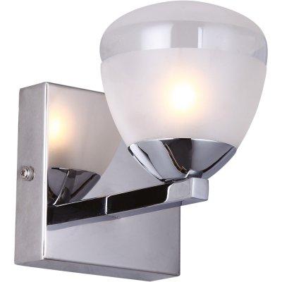 Светильник Arte lamp A9501AP-1CC AquaСовременные<br><br><br>Тип лампы: галогенная / LED-светодиодная<br>Тип цоколя: G9<br>Ширина, мм: 100<br>MAX мощность ламп, Вт: 33<br>Расстояние от стены, мм: 140<br>Высота, мм: 130<br>Цвет арматуры: серебристый