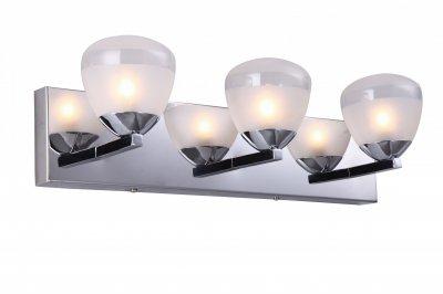 Светильник Arte lamp A9501AP-3CC AquaСовременные<br><br><br>S освещ. до, м2: 6<br>Тип лампы: галогенная / LED-светодиодная<br>Тип цоколя: G9<br>Количество ламп: 3<br>Ширина, мм: 450<br>MAX мощность ламп, Вт: 33<br>Расстояние от стены, мм: 140<br>Высота, мм: 130<br>Цвет арматуры: серебристый