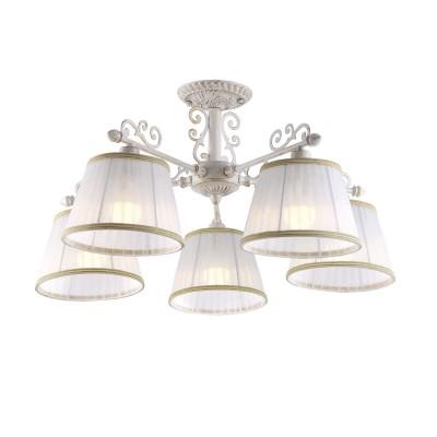 Люстра Arte lamp A9513PL-5WG JessПотолочные<br>Компания «Светодом» предлагает широкий ассортимент люстр от известных производителей. Представленные в нашем каталоге товары выполнены из современных материалов и обладают отличным качеством. Благодаря широкому ассортименту Вы сможете найти у нас люстру под любой интерьер. Мы предлагаем как классические варианты, так и современные модели, отличающиеся лаконичностью и простотой форм.   Стильная люстра Arte lamp A9513PL-5WG станет украшением любого дома. Эта модель от известного производителя не оставит равнодушным ценителей красивых и оригинальных предметов интерьера. Люстра Arte lamp A9513PL-5WG обеспечит равномерное распределение света по всей комнате. При выборе обратите внимание на характеристики, позволяющие приобрести наиболее подходящую модель.   Купить понравившуюся люстру по доступной цене Вы можете в интернет-магазине «Светодом».<br><br>Установка на натяжной потолок: Да<br>S освещ. до, м2: 10<br>Крепление: Планка<br>Тип лампы: накаливания / энергосбережения / LED-светодиодная<br>Тип цоколя: E14<br>Количество ламп: 5<br>MAX мощность ламп, Вт: 40<br>Диаметр, мм мм: 640<br>Высота, мм: 340<br>Цвет арматуры: белый с золотистой патиной