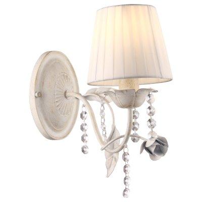 Светильник Arte lamp A9514AP-1WG KennyКлассические<br><br><br>Тип лампы: Накаливания / энергосбережения / светодиодная<br>Тип цоколя: E14<br>Цвет арматуры: белый<br>Количество ламп: 1<br>Ширина, мм: 130<br>Длина, мм: 270<br>Высота, мм: 300<br>MAX мощность ламп, Вт: 40