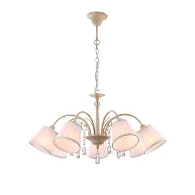 Светильник Arte lamp A9515LM-7WG AlexiaПодвесные<br>Компания «Светодом» предлагает широкий ассортимент люстр от известных производителей. Представленные в нашем каталоге товары выполнены из современных материалов и обладают отличным качеством. Благодаря широкому ассортименту Вы сможете найти у нас люстру под любой интерьер. Мы предлагаем как классические варианты, так и современные модели, отличающиеся лаконичностью и простотой форм.  Стильная люстра Arte lamp A9515LM-7WG станет украшением любого дома. Эта модель от известного производителя не оставит равнодушным ценителей красивых и оригинальных предметов интерьера. Люстра Arte lamp A9515LM-7WG обеспечит равномерное распределение света по всей комнате. При выборе обратите внимание на характеристики, позволяющие приобрести наиболее подходящую модель. Купить понравившуюся люстру по доступной цене Вы можете в интернет-магазине «Светодом».<br><br>Установка на натяжной потолок: Да<br>S освещ. до, м2: 14<br>Крепление: Крюк<br>Тип лампы: накаливания / энергосбережения / LED-светодиодная<br>Тип цоколя: E14<br>Цвет арматуры: бежевый с золотистой патиной<br>Количество ламп: 7<br>Диаметр, мм мм: 740<br>Высота, мм: 420<br>MAX мощность ламп, Вт: 40