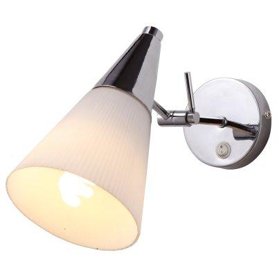 Настенный бра Arte lamp A9517AP-1CC BrooklynСовременные<br><br><br>S освещ. до, м2: 4<br>Тип лампы: накаливания / энергосбережения / LED-светодиодная<br>Тип цоколя: E14<br>Количество ламп: 1<br>Ширина, мм: 130<br>MAX мощность ламп, Вт: 60<br>Диаметр, мм мм: 260<br>Высота, мм: 210
