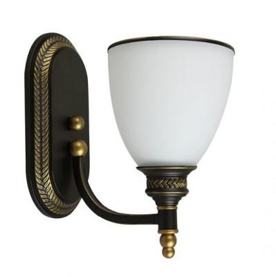A9518AP-1BA Arte lamp СветильникКлассические<br><br><br>Тип цоколя: E27<br>Количество ламп: 1<br>MAX мощность ламп, Вт: 40W<br>Диаметр, мм мм: 120<br>Размеры: D150<br>Длина, мм: 230<br>Высота, мм: 230<br>Цвет арматуры: АНТИЧНЫЙ ЧЕРНЫЙ<br>Общая мощность, Вт: 40W