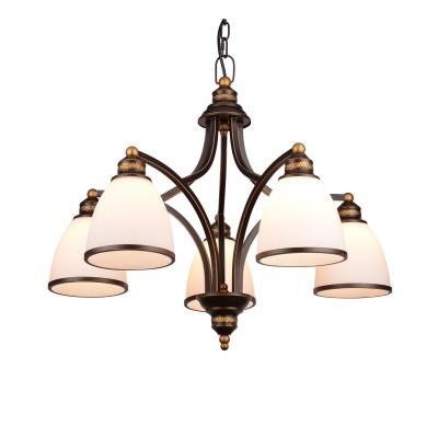 A9518LM-5BA Arte lamp СветильникПодвесные<br><br><br>Установка на натяжной потолок: Да<br>S освещ. до, м2: 10<br>Крепление: Планка<br>Тип лампы: Накаливания / энергосбережения / светодиодная<br>Тип цоколя: E27<br>Количество ламп: 5<br>MAX мощность ламп, Вт: 40W<br>Диаметр, мм мм: 680<br>Длина цепи/провода, мм: 1000<br>Размеры: D670<br>Длина, мм: 680<br>Высота, мм: 530<br>Цвет арматуры: АНТИЧНЫЙ ЧЕРНЫЙ<br>Общая мощность, Вт: 40W