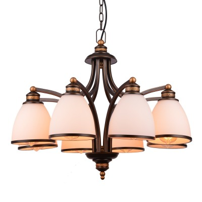 Светильник подвесной Arte lamp A9518LM-8BA Bonitoлюстры подвесные классические<br><br><br>Установка на натяжной потолок: Да<br>S освещ. до, м2: 16<br>Крепление: Планка<br>Тип цоколя: E27<br>Цвет арматуры: АНТИЧНЫЙ ЧЕРНЫЙ<br>Количество ламп: 8<br>Диаметр, мм мм: 680<br>Длина цепи/провода, мм: 1000<br>Размеры: D670<br>Длина, мм: 680<br>Высота, мм: 530<br>MAX мощность ламп, Вт: 40W<br>Общая мощность, Вт: 40W
