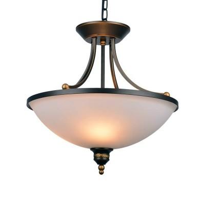 A9518SP-3BA Arte lamp СветильникПодвесные<br><br><br>Крепление: Планка<br>Тип цоколя: E27<br>Количество ламп: 3<br>MAX мощность ламп, Вт: 40W<br>Диаметр, мм мм: 600<br>Длина цепи/провода, мм: 450<br>Размеры: D450<br>Длина, мм: 600<br>Высота, мм: 520<br>Цвет арматуры: АНТИЧНЫЙ ЧЕРНЫЙ<br>Общая мощность, Вт: 40W