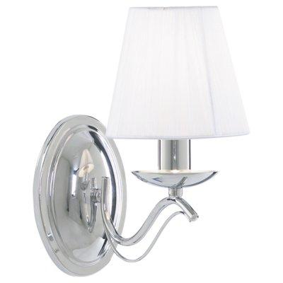 Светильник настенный Arte lamp A9521AP-1CC DamainРустика<br><br><br>S освещ. до, м2: 3<br>Тип лампы: накаливания / энергосбережения / LED-светодиодная<br>Тип цоколя: E14<br>Количество ламп: 1<br>Ширина, мм: 130<br>MAX мощность ламп, Вт: 40<br>Диаметр, мм мм: 240<br>Высота, мм: 260<br>Оттенок (цвет): серебристый