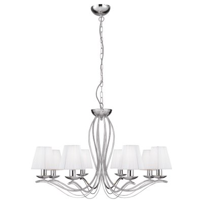 Люстра подвесная Arte lamp A9521LM-8CC DamainПодвесные<br>Компания «Светодом» предлагает широкий ассортимент люстр от известных производителей. Представленные в нашем каталоге товары выполнены из современных материалов и обладают отличным качеством. Благодаря широкому ассортименту Вы сможете найти у нас люстру под любой интерьер. Мы предлагаем как классические варианты, так и современные модели, отличающиеся лаконичностью и простотой форм.  Стильная люстра Arte lamp A9521LM-8CC станет украшением любого дома. Эта модель от известного производителя не оставит равнодушным ценителей красивых и оригинальных предметов интерьера. Люстра Arte lamp A9521LM-8CC обеспечит равномерное распределение света по всей комнате. При выборе обратите внимание на характеристики, позволяющие приобрести наиболее подходящую модель. Купить понравившуюся люстру по доступной цене Вы можете в интернет-магазине «Светодом».<br><br>Установка на натяжной потолок: Да<br>S освещ. до, м2: 22<br>Крепление: Планка<br>Тип лампы: накаливания / энергосбережения / LED-светодиодная<br>Тип цоколя: E14<br>Цвет арматуры: серебристый хром<br>Количество ламп: 8<br>Ширина, мм: 760<br>Диаметр, мм мм: 760<br>Длина цепи/провода, мм: 500<br>Длина, мм: 500<br>Высота, мм: 500<br>Оттенок (цвет): серебристый<br>MAX мощность ламп, Вт: 40