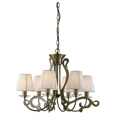 Светильник Arte lamp A9531LM-6AB LizzyПодвесные<br>Компания «Светодом» предлагает широкий ассортимент люстр от известных производителей. Представленные в нашем каталоге товары выполнены из современных материалов и обладают отличным качеством. Благодаря широкому ассортименту Вы сможете найти у нас люстру под любой интерьер. Мы предлагаем как классические варианты, так и современные модели, отличающиеся лаконичностью и простотой форм.  Стильная люстра Arte lamp A9531LM-6AB станет украшением любого дома. Эта модель от известного производителя не оставит равнодушным ценителей красивых и оригинальных предметов интерьера. Люстра Arte lamp A9531LM-6AB обеспечит равномерное распределение света по всей комнате. При выборе обратите внимание на характеристики, позволяющие приобрести наиболее подходящую модель. Купить понравившуюся люстру по доступной цене Вы можете в интернет-магазине «Светодом».<br><br>Установка на натяжной потолок: Да<br>S освещ. до, м2: 12<br>Крепление: Крюк<br>Тип цоколя: E14<br>Цвет арматуры: бронзовый<br>Количество ламп: 6<br>Диаметр, мм мм: 600<br>Высота, мм: 450<br>MAX мощность ламп, Вт: 40