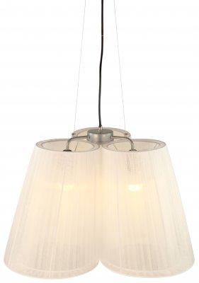 Люстра Arte lamp A9533LM-3SS ParalumeПодвесные<br><br><br>Установка на натяжной потолок: Да<br>S освещ. до, м2: 8<br>Крепление: Планка<br>Тип товара: Люстра подвесная<br>Тип лампы: накаливания / энергосбережения / LED-светодиодная<br>Тип цоколя: E27<br>Количество ламп: 3<br>Ширина, мм: 500<br>MAX мощность ламп, Вт: 40<br>Диаметр, мм мм: 500<br>Длина цепи/провода, мм: 900 - 1000<br>Высота, мм: 400