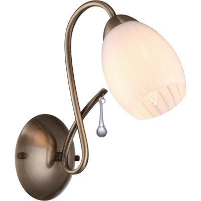 Бра Arte lamp A9534AP-1AB CornioloСовременные<br><br><br>S освещ. до, м2: 2<br>Тип лампы: накаливания / энергосбережения / LED-светодиодная<br>Тип цоколя: E14<br>Цвет арматуры: бронзовый<br>Количество ламп: 1<br>Ширина, мм: 120<br>Длина, мм: 220<br>Высота, мм: 280<br>Оттенок (цвет): белый<br>MAX мощность ламп, Вт: 40