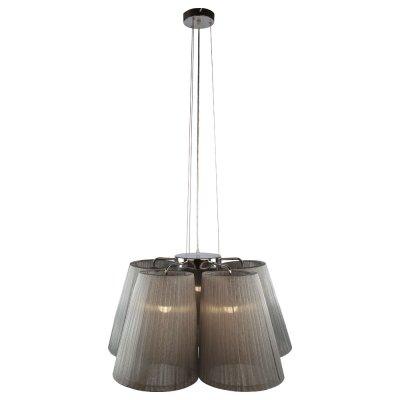 Люстра Arte lamp A9535LM-5SS ParalumeПодвесные<br><br><br>Установка на натяжной потолок: Да<br>S освещ. до, м2: 14<br>Крепление: Планка<br>Тип товара: Люстра подвесная<br>Тип лампы: накаливания / энергосбережения / LED-светодиодная<br>Тип цоколя: E27<br>Количество ламп: 5<br>Ширина, мм: 815<br>MAX мощность ламп, Вт: 40<br>Диаметр, мм мм: 815<br>Длина цепи/провода, мм: 900 - 1000<br>Высота, мм: 400