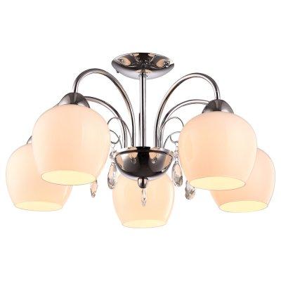 Светильник Arte lamp A9548PL-5CC MilloПотолочные<br>Компания «Светодом» предлагает широкий ассортимент люстр от известных производителей. Представленные в нашем каталоге товары выполнены из современных материалов и обладают отличным качеством. Благодаря широкому ассортименту Вы сможете найти у нас люстру под любой интерьер. Мы предлагаем как классические варианты, так и современные модели, отличающиеся лаконичностью и простотой форм.  Стильная люстра Arte lamp A9548PL-5CC станет украшением любого дома. Эта модель от известного производителя не оставит равнодушным ценителей красивых и оригинальных предметов интерьера. Люстра Arte lamp A9548PL-5CC обеспечит равномерное распределение света по всей комнате. При выборе обратите внимание на характеристики, позволяющие приобрести наиболее подходящую модель. Купить понравившуюся люстру по доступной цене Вы можете в интернет-магазине «Светодом».<br><br>Установка на натяжной потолок: Да<br>S освещ. до, м2: 15<br>Крепление: Планка<br>Тип цоколя: E27<br>Цвет арматуры: серебристый хром<br>Количество ламп: 5<br>Диаметр, мм мм: 530<br>Высота, мм: 280<br>MAX мощность ламп, Вт: 60