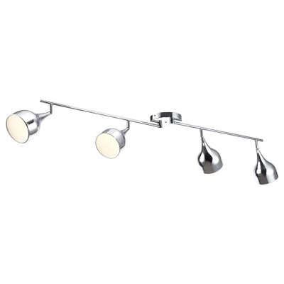 Светильник Arte lamp A9555PL-4CC CampanaС 4 лампами<br>Светильники-споты – это оригинальные изделия с современным дизайном. Они позволяют не ограничивать свою фантазию при выборе освещения для интерьера. Такие модели обеспечивают достаточно качественный свет. Благодаря компактным размерам Вы можете использовать несколько спотов для одного помещения. <br>Интернет-магазин «Светодом» предлагает необычный светильник-спот ARTE Lamp A9555PL-4CC по привлекательной цене. Эта модель станет отличным дополнением к люстре, выполненной в том же стиле. Перед оформлением заказа изучите характеристики изделия. <br>Купить светильник-спот ARTE Lamp A9555PL-4CC в нашем онлайн-магазине Вы можете либо с помощью формы на сайте, либо по указанным выше телефонам. Обратите внимание, что у нас склады не только в Москве и Екатеринбурге, но и других городах России.<br><br>S освещ. до, м2: 8<br>Тип лампы: Накаливания / энергосбережения / светодиодная<br>Тип цоколя: E14<br>Цвет арматуры: серебристый<br>Количество ламп: 4<br>Ширина, мм: 120<br>Длина, мм: 1610<br>Высота, мм: 170<br>MAX мощность ламп, Вт: 40