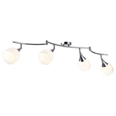 Светильник Arte lamp A9556PL-4CC TrumpetС 4 лампами<br>Светильники-споты – это оригинальные изделия с современным дизайном. Они позволяют не ограничивать свою фантазию при выборе освещения для интерьера. Такие модели обеспечивают достаточно качественный свет. Благодаря компактным размерам Вы можете использовать несколько спотов для одного помещения.  Интернет-магазин «Светодом» предлагает необычный светильник-спот ARTE Lamp A9556PL-4CC по привлекательной цене. Эта модель станет отличным дополнением к люстре, выполненной в том же стиле. Перед оформлением заказа изучите характеристики изделия.  Купить светильник-спот ARTE Lamp A9556PL-4CC в нашем онлайн-магазине Вы можете либо с помощью формы на сайте, либо по указанным выше телефонам. Обратите внимание, что у нас склады не только в Москве и Екатеринбурге, но и других городах России.<br><br>S освещ. до, м2: 8<br>Тип лампы: Накаливания / энергосбережения / светодиодная<br>Тип цоколя: E14<br>Цвет арматуры: серебристый<br>Количество ламп: 4<br>Ширина, мм: 120<br>Длина, мм: 1610<br>Высота, мм: 170<br>MAX мощность ламп, Вт: 40