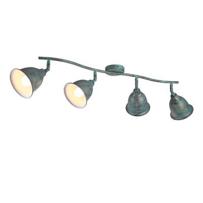 A9557PL-4BG Arte lamp СветильникС 4 лампами<br><br><br>Тип цоколя: E14<br>Цвет арматуры: СТАРАЯ МЕДЬ<br>Количество ламп: 4<br>Диаметр, мм мм: 160<br>Размеры: L88*W24*H22<br>Длина, мм: 850<br>Высота, мм: 240<br>MAX мощность ламп, Вт: 40W<br>Общая мощность, Вт: 40W