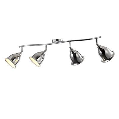 A9557PL-4CC Arte lamp СветильникС 4 лампами<br><br><br>Тип цоколя: E14<br>Количество ламп: 4<br>MAX мощность ламп, Вт: 40W<br>Диаметр, мм мм: 160<br>Размеры: L88*W24*H22<br>Длина, мм: 850<br>Высота, мм: 240<br>Цвет арматуры: Серебристый хром<br>Общая мощность, Вт: 40W