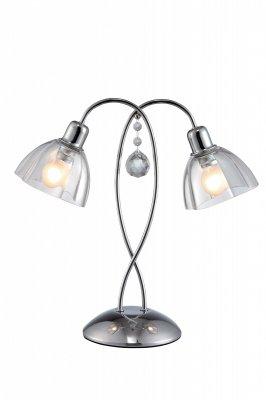 Интерьерная настольная лампа Arte lamp A9559LT-2CC SilenzioСнято с производства<br><br><br>S освещ. до, м2: 4<br>Тип товара: светильник настольный лампа<br>Тип лампы: накаливания / энергосбережения / LED-светодиодная<br>Тип цоколя: E14<br>Количество ламп: 2<br>MAX мощность ламп, Вт: 40<br>Диаметр, мм мм: 400<br>Высота, мм: 390<br>Оттенок (цвет): белый<br>Цвет арматуры: Хром, Серый
