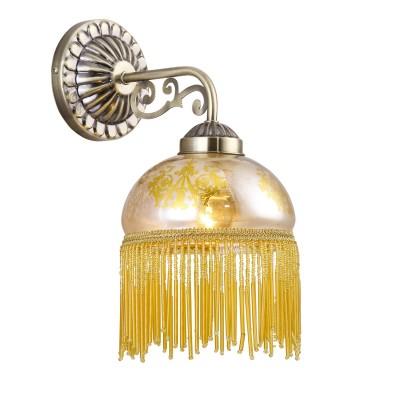 Светильник бра Arte lamp A9560AP-1AB PerlinaМодерн<br><br><br>S освещ. до, м2: 2<br>Тип товара: Светильник настенный бра<br>Тип лампы: накаливания / энергосбережения / LED-светодиодная<br>Тип цоколя: E27<br>Количество ламп: 1<br>Ширина, мм: 160<br>MAX мощность ламп, Вт: 40<br>Длина, мм: 240<br>Высота, мм: 320<br>Оттенок (цвет): Матово-янтарное стекло с узором<br>Цвет арматуры: бронзовый